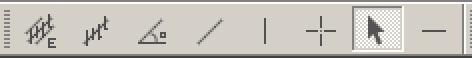 панель графические инструменты в MetaTrader 4