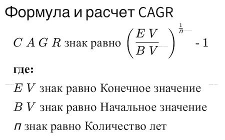 CAGR формула рассчета